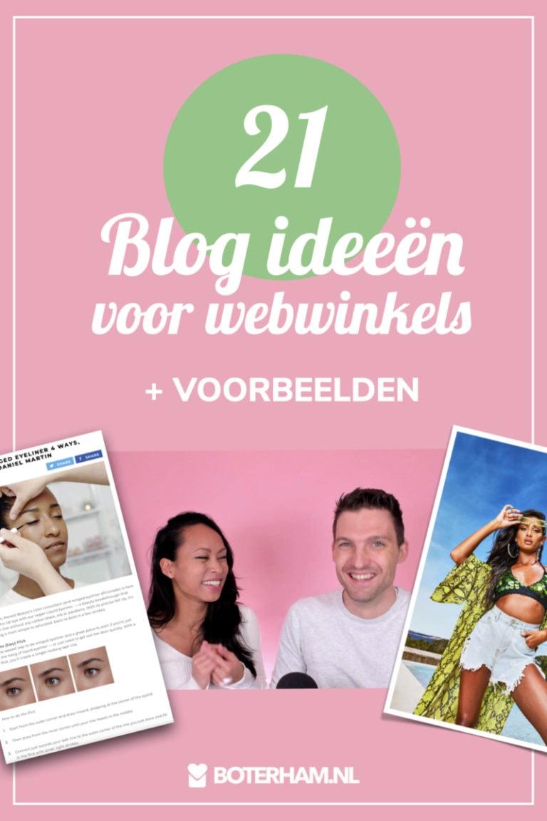 21 Blog ideeen voor webwinkels met voorbeelden Pinterest pin