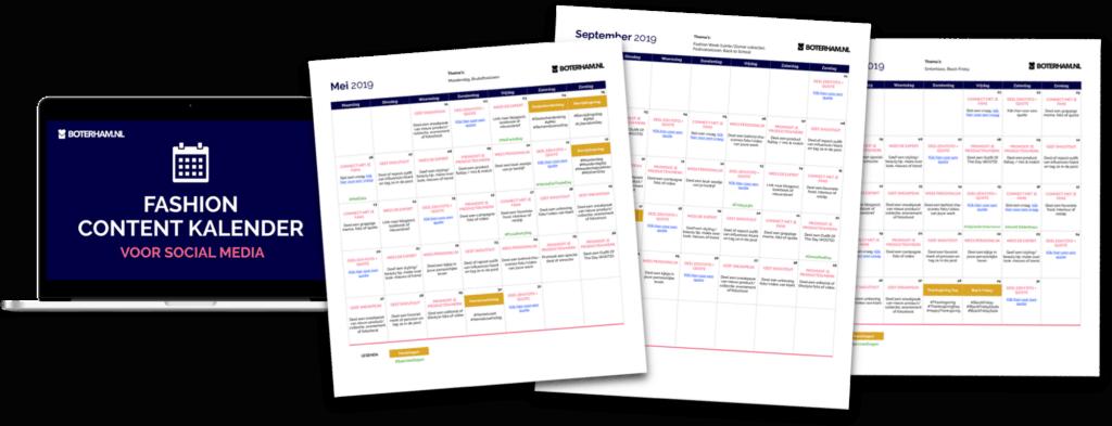 Fashion Content Kalender