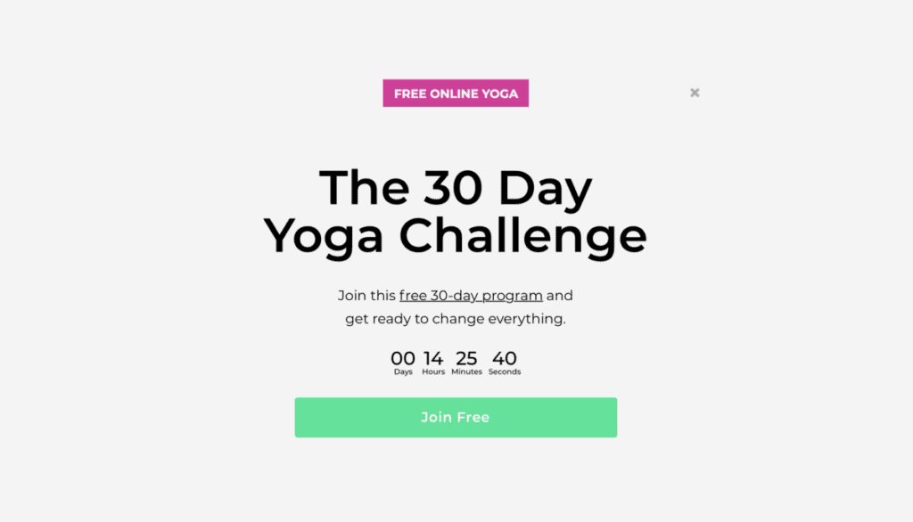 Doyou - pop up free 30 day challenge