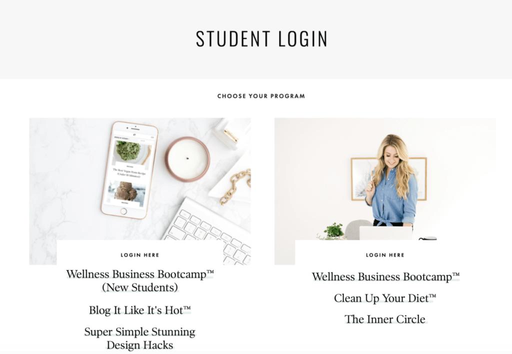 Elizabeth Rider - Student login