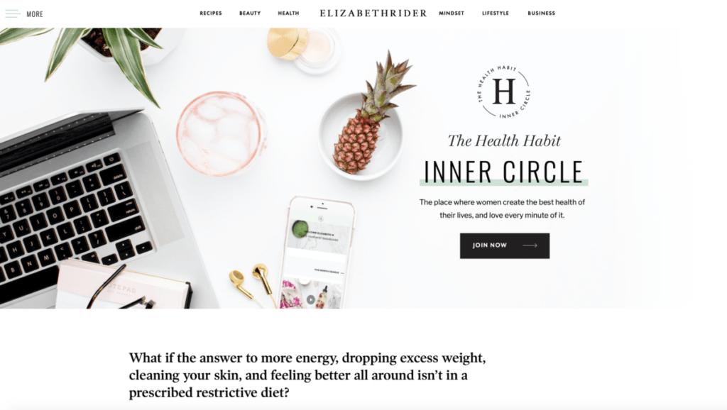 Elizabeth Rider - homepage Inner Circle