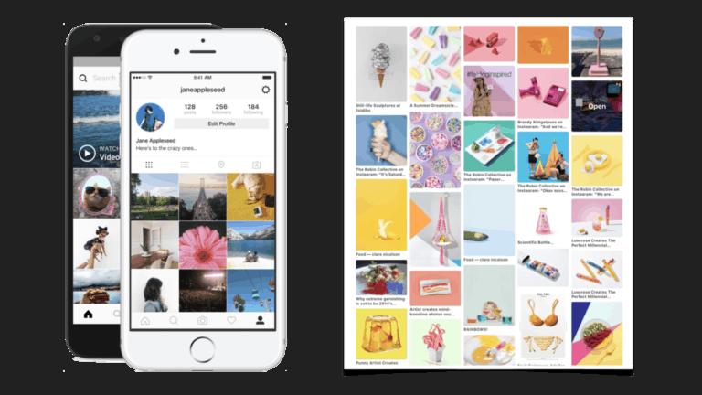 Instagram Pinterest visueel social media platform