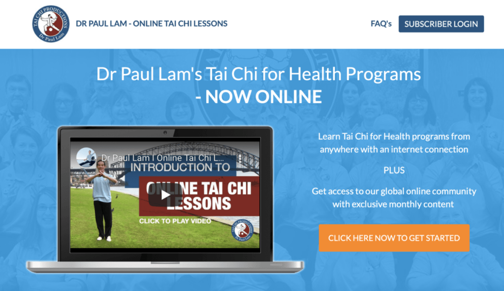 Online Tai Chi Lessons - homepage
