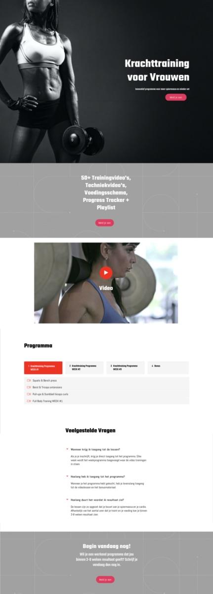 Salespage Cursus Krachttraining voor Vrouwen