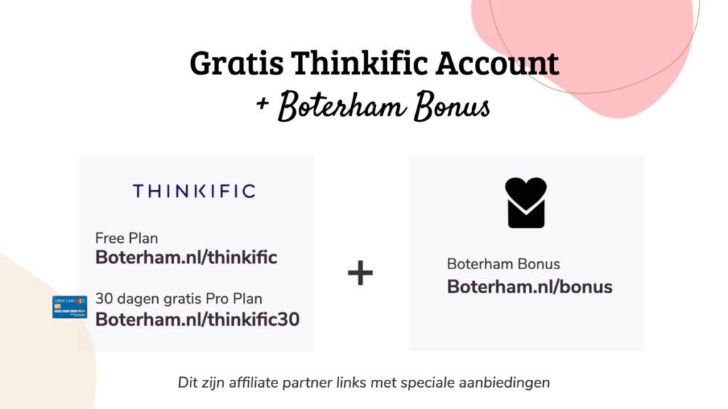 de Thinkific partner links van Boterham