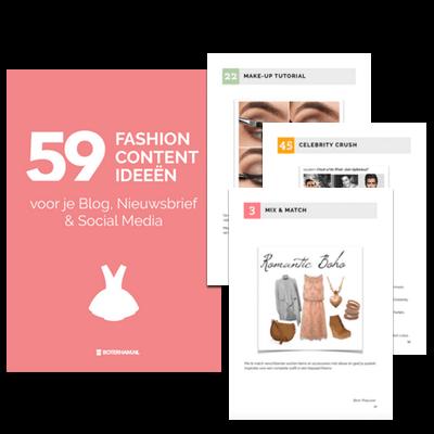 freebie 59 fashion content ideeen voorbeelden