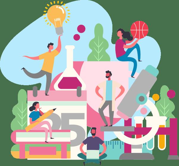 groep mensen doelen bereiken dromen toekomst