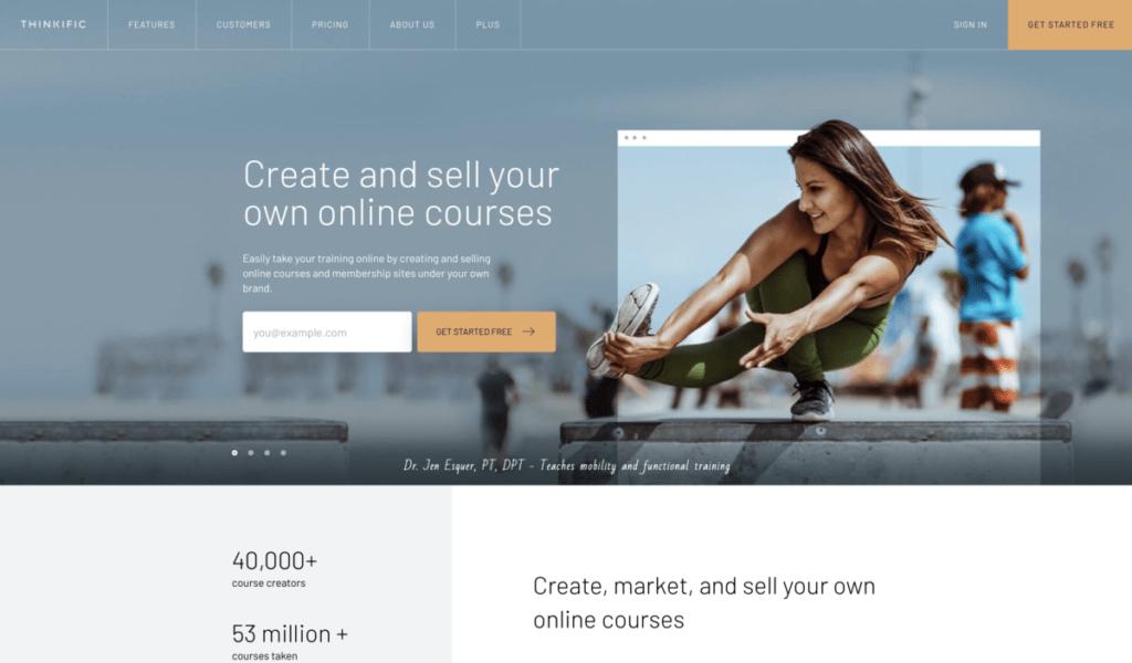 homepage Thinkific