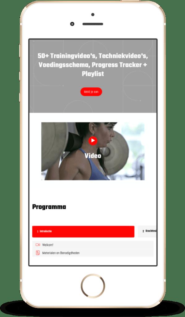 iphone SE 3D Cursus Krachttraining voor vrouwen