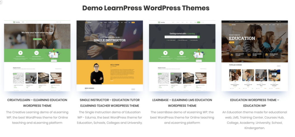 learnpress wordpress themes