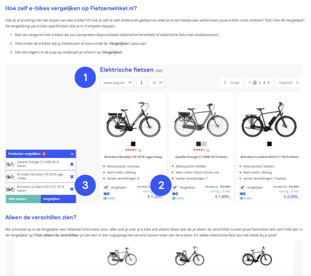 blogartikel product vergelijking fietsenwinkel