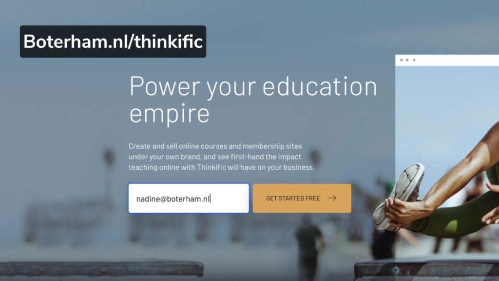 Thinkific account aanmaken formulier