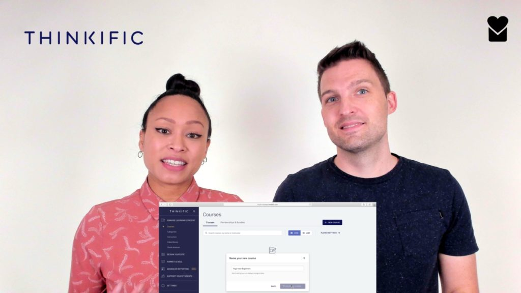 Sil en Nadine met het Thinkific admin dashboard
