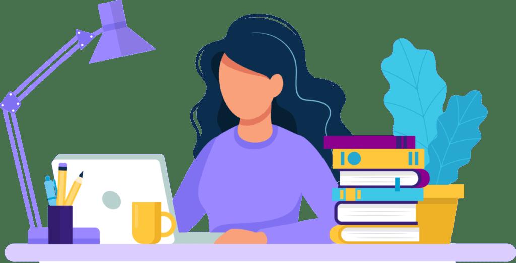 vrouw werken studeren